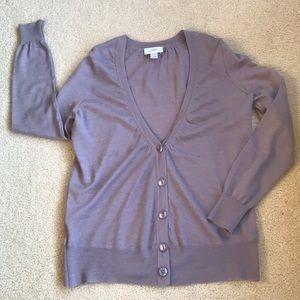 Ann Taylor LOFT lavender cardigan - Medium